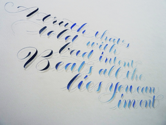 william blake calligraphy quotation