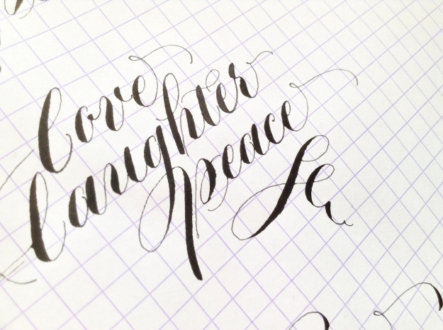 black copperplate calligraphy