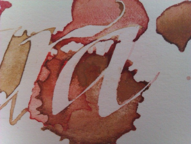 masking-fluid-and-splattered-gouache-letters-r and-a