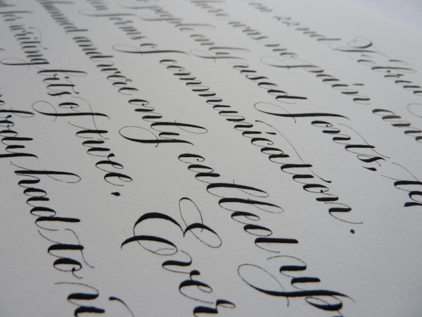 black-copperplate-calligraphy