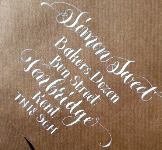 calligraphy-envelope-address-uk