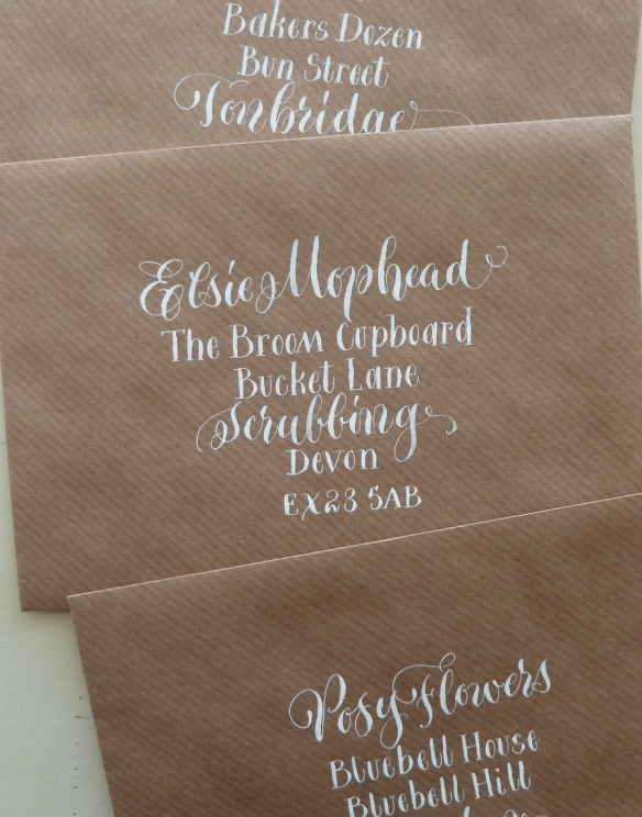white-quirky-lettering-on-manilla-envelopes-uk