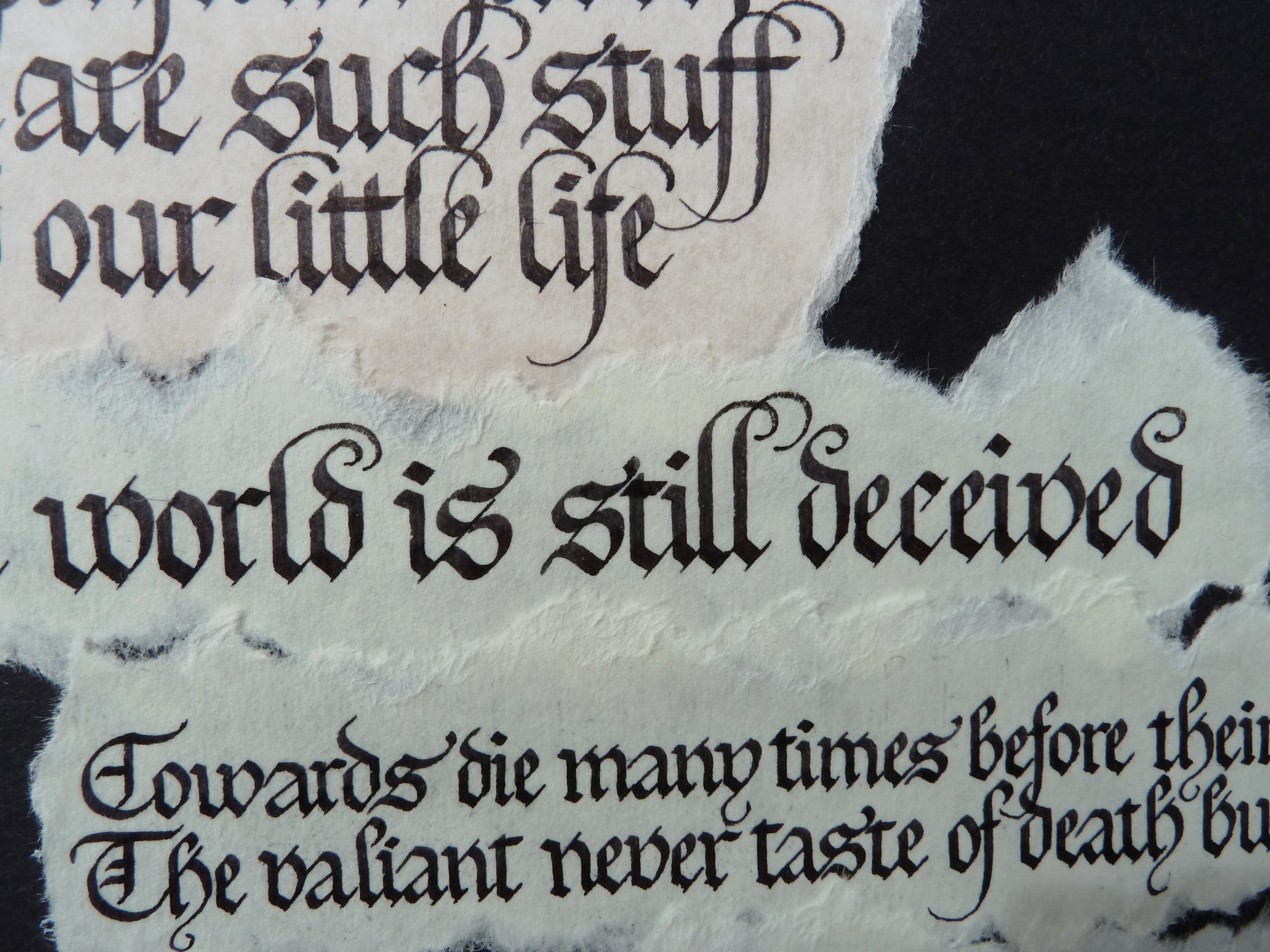 Calligraphy Tip No 2 And 3 on Shakespeare Handwriting