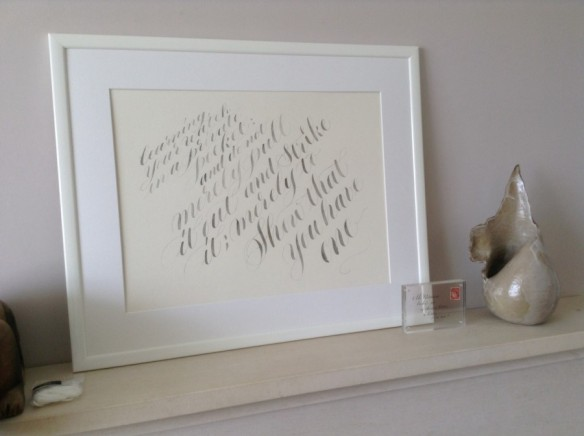 calligraphy-painting-on-mantelpiece
