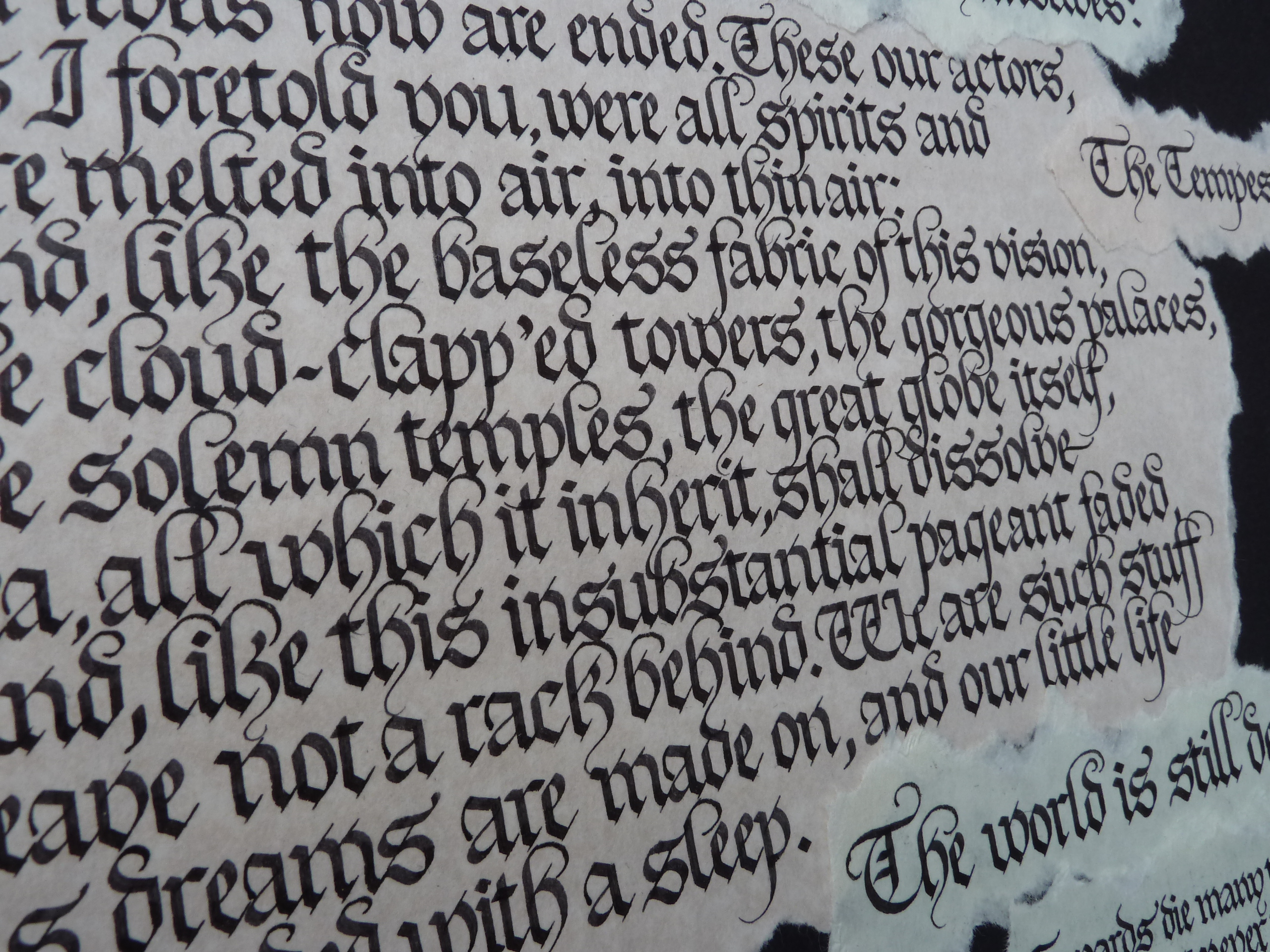Gothic Calligraphy Wonky Words
