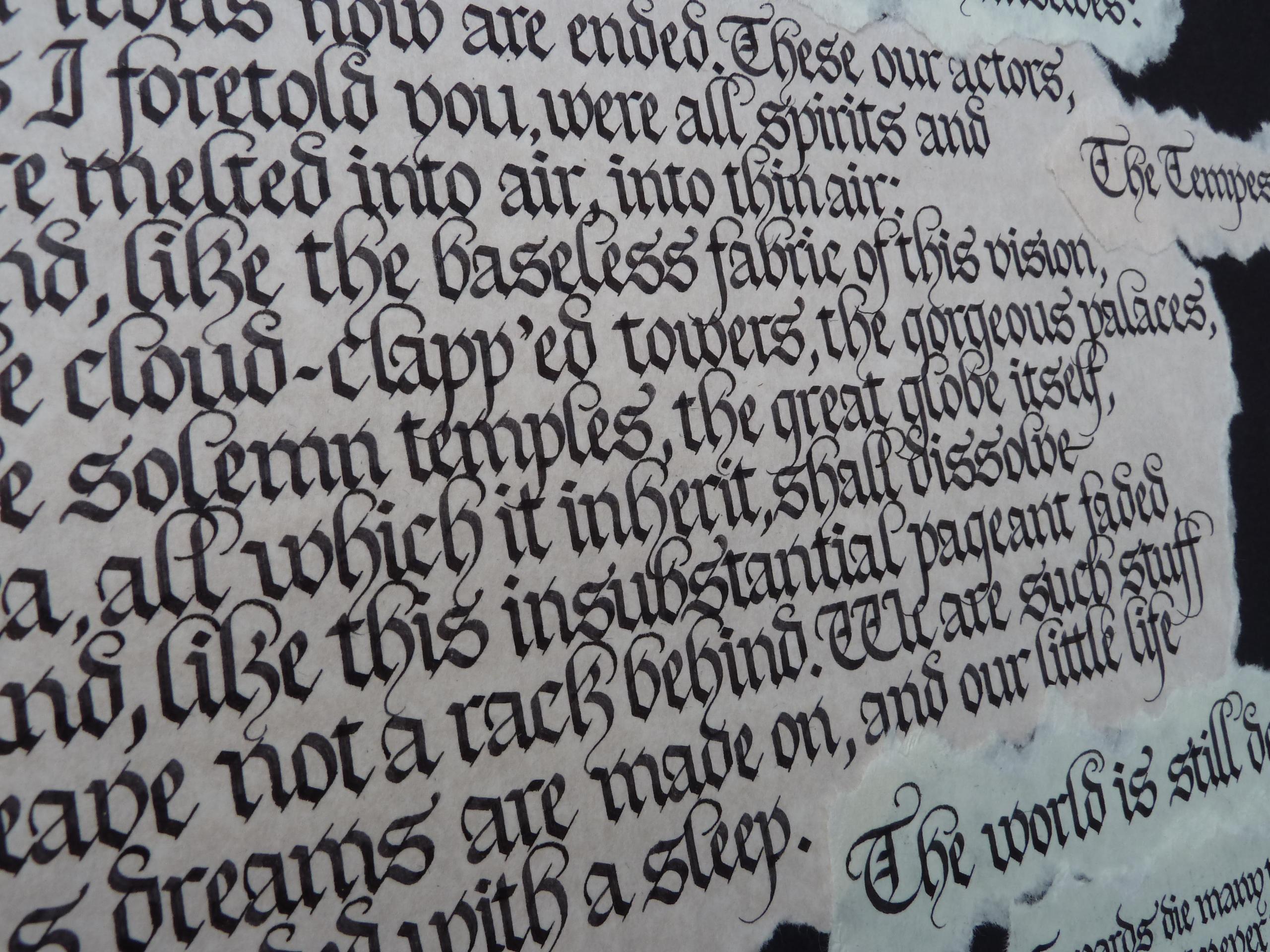 Grosgrain modern calligraphy brush lettering free alphabet