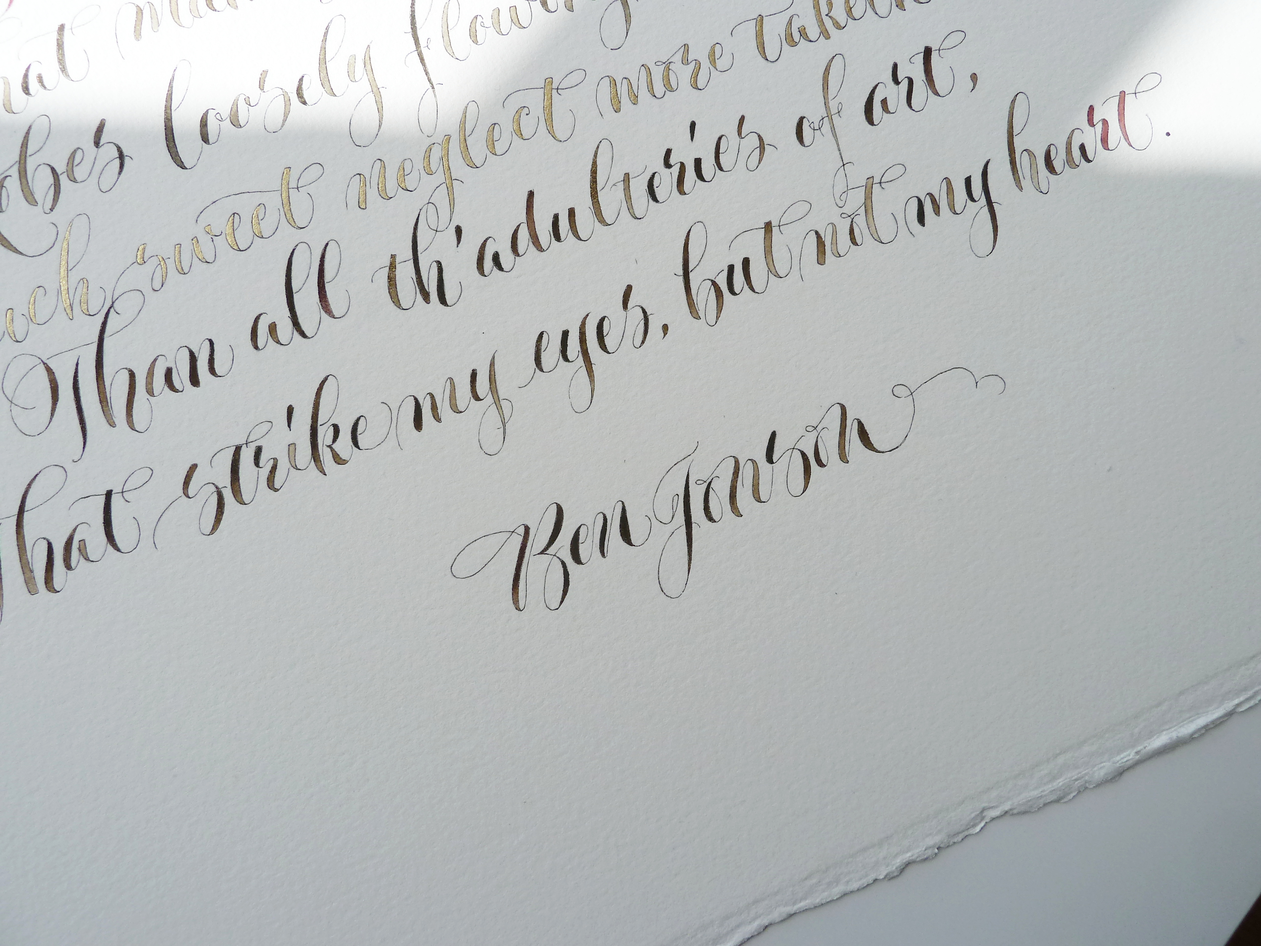 Being a wedding calligrapher in the uku2026 wonky words