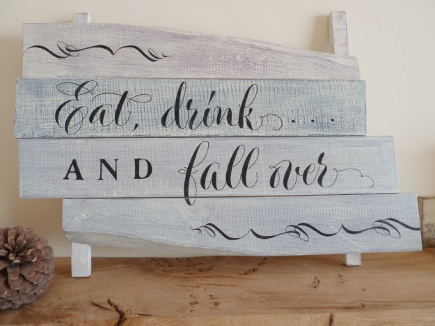 distressed-shabby-chic-effect-wooden-sign-with-calligraphy-inspired-modern-handpainted-lettering-devon-uk