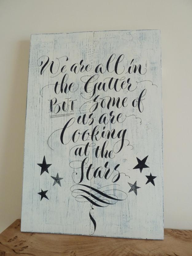 calligraphy-on-wooden-sign-devon-uk