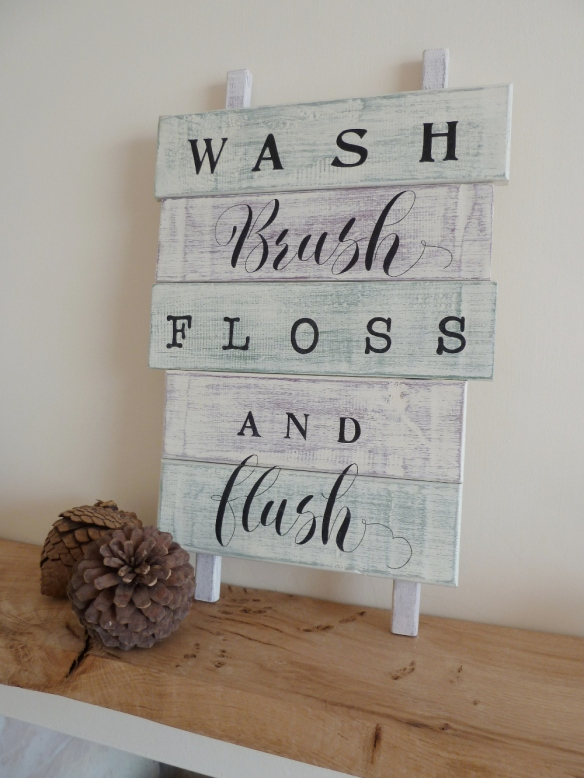 distressed-shabby-chic-wooden-sign-with-calligraphy-inspired-hand-lettering-devon-uk