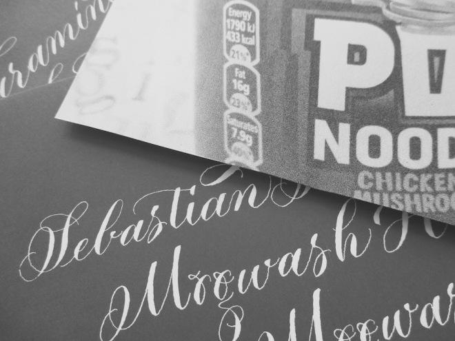 modern-calligraphy-envelope-invitation-uk-white-on-grey