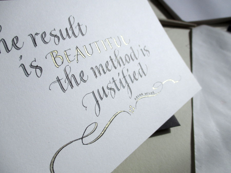Modern quirky calligraphy uk wonky words