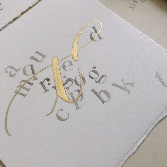 gilded-letter-t-calligraphy-uk