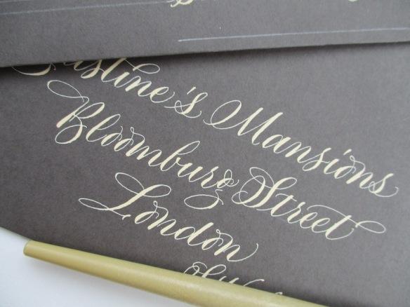 calligraphy-addressed-envelope-to-London-uk