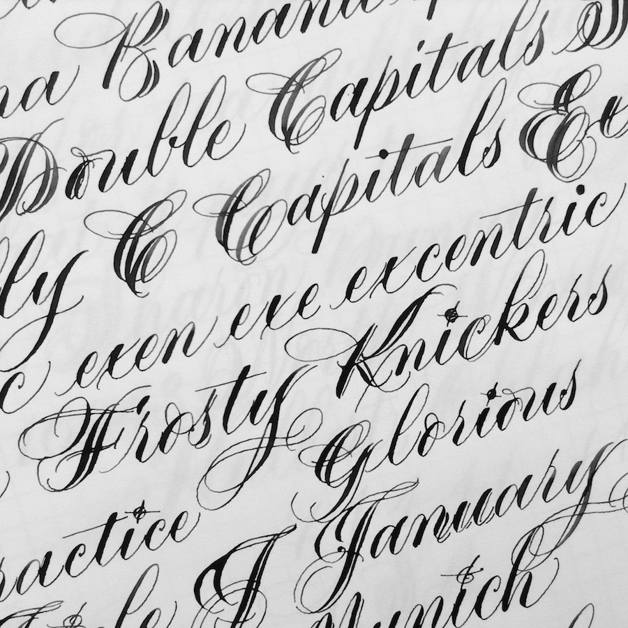 calligraphy-practice-double-lettering-copperplate-uk