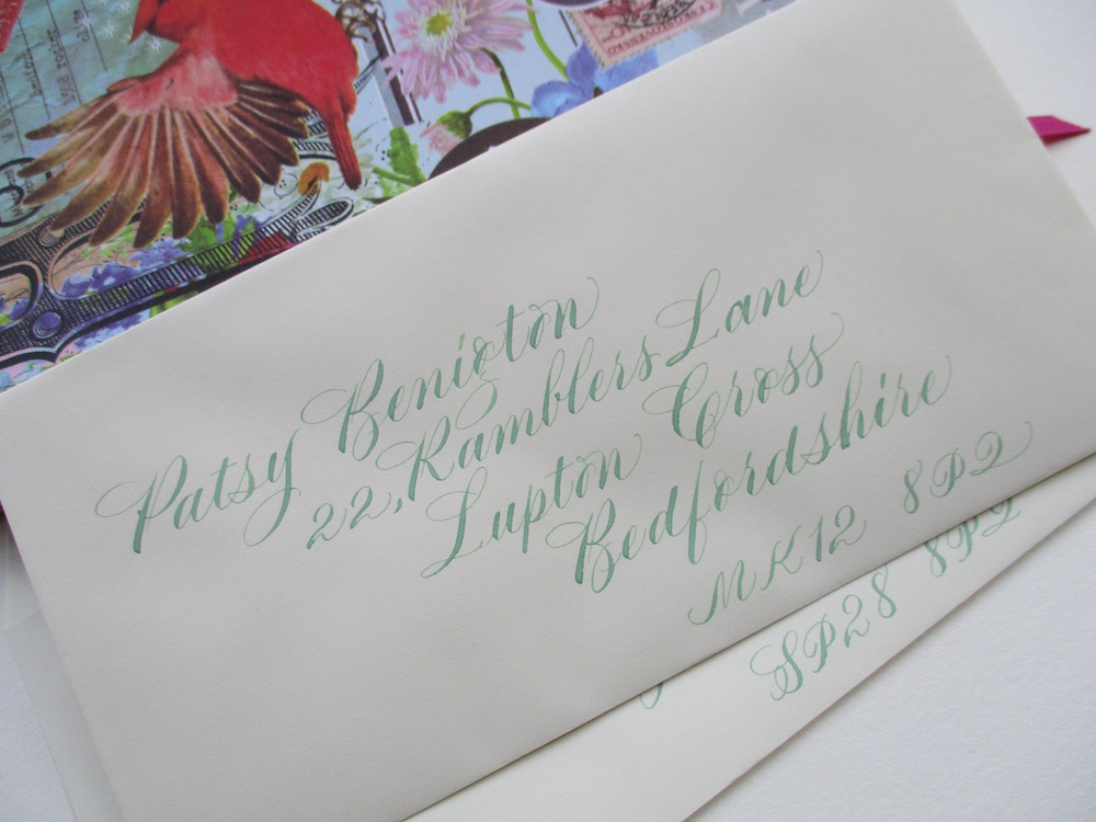 Calligraphy Envelopes Wonky Words