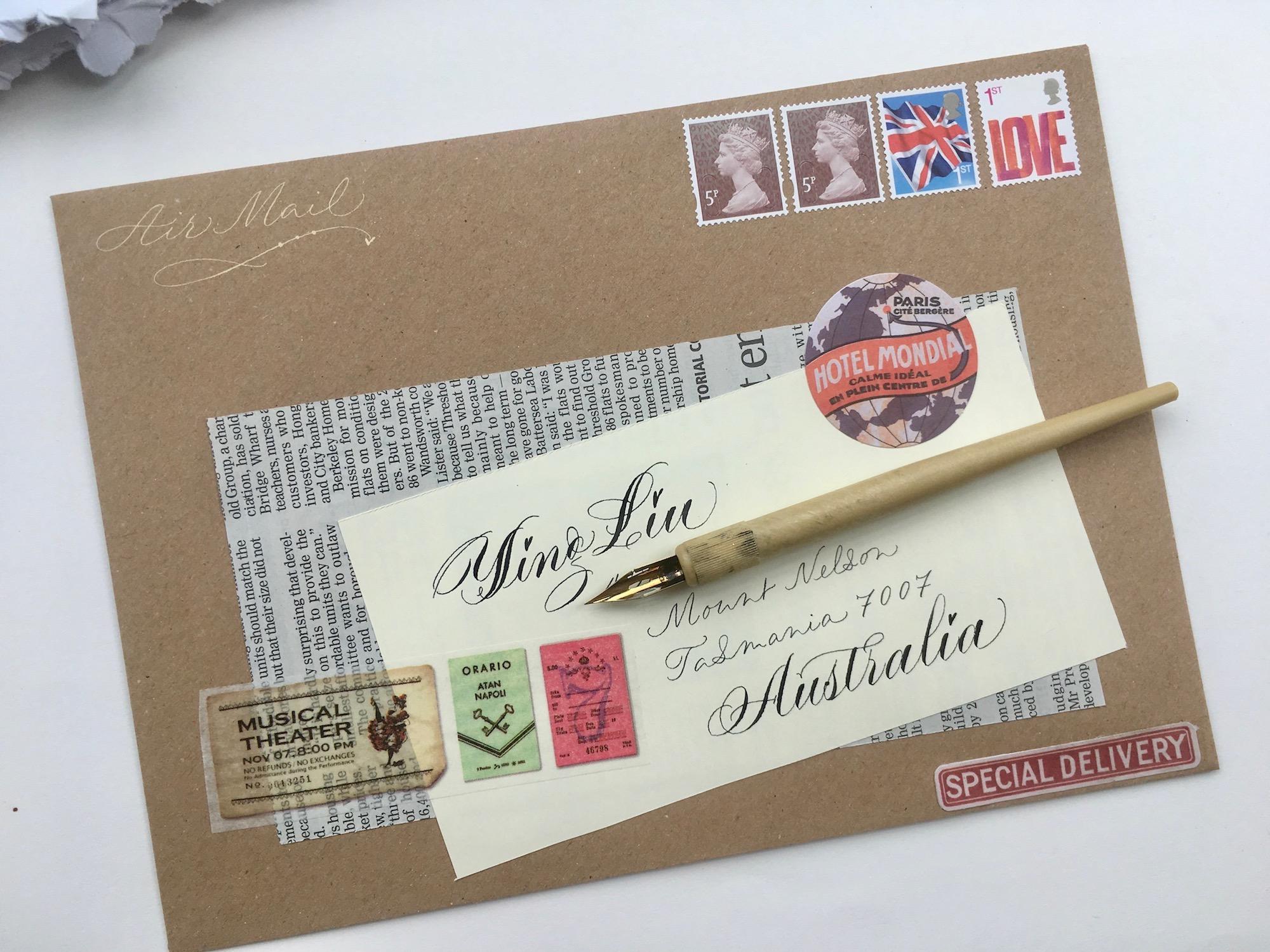 calligraphy-collage-uk-vintage-envelope