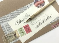 calligraphy-and-lettering-mix-addressed-envelope-to-Australia