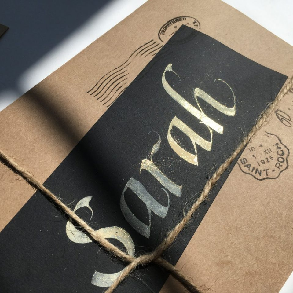 Italic-calligraphy-name-label