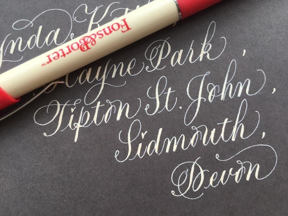 cream-calligraphy-on-grey-envelope-addressing-service-for-weddings-and-events-UK