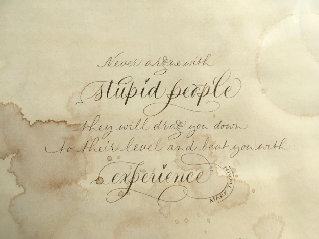 mark-twain-quotation-stupid-people-on-aged-paper