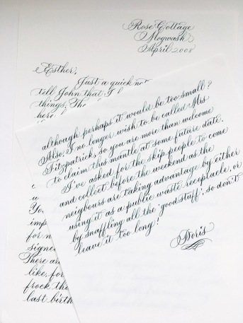 calligraphy-letter-to-Esther-loopy-letter-project-2