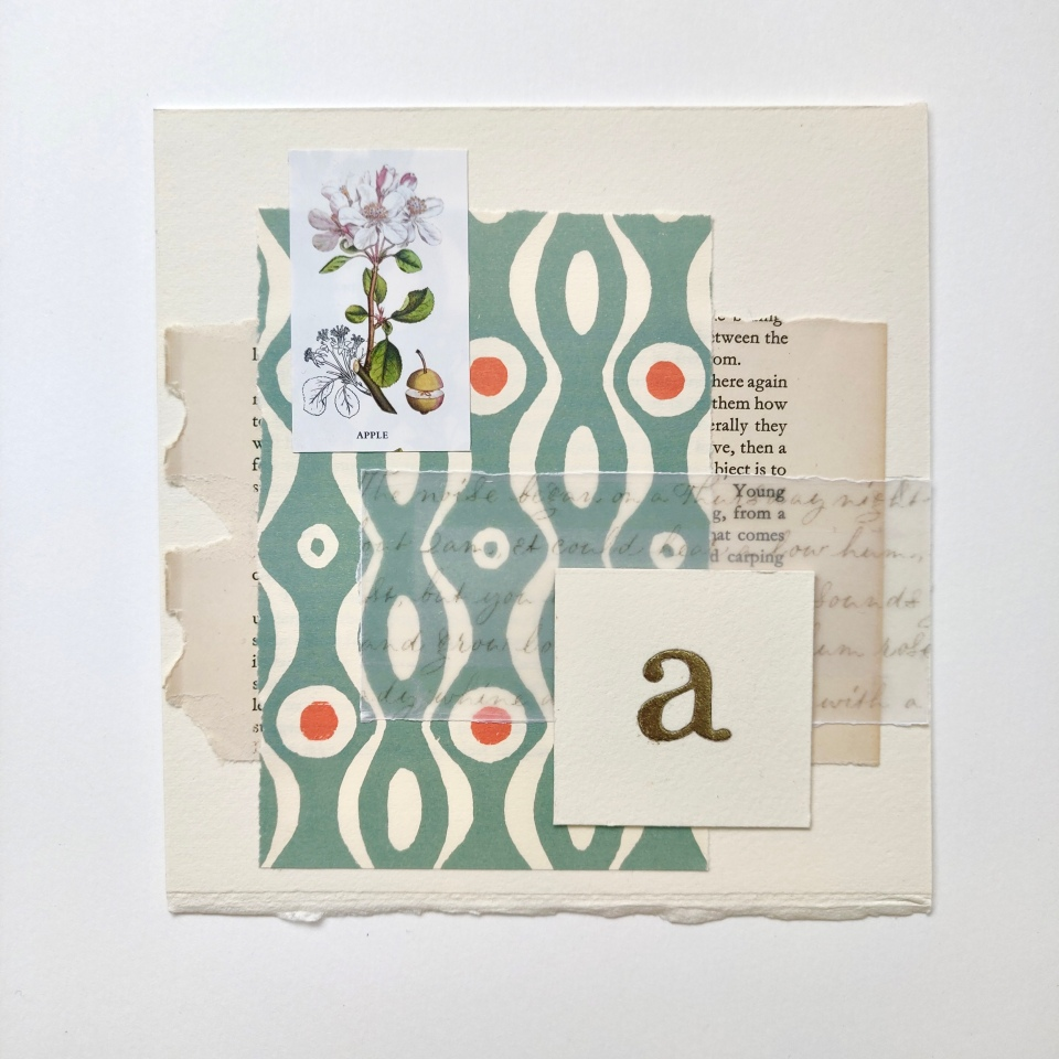 collage-with-gilded-letter-and-calligraphy