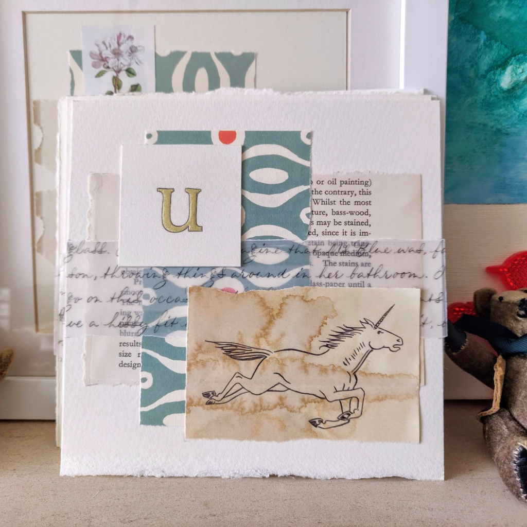 u-for-unicorn-collage-with-calligraphy-and-gilded-letter-uk